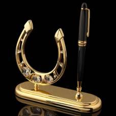 Ручка на подставке «Подкова», с кристаллами Сваровски VS