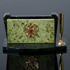 Визитница «Герб» с подставкой для ручки Sima-Land
