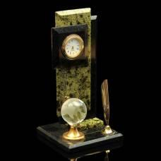 Визитница «Стелла»: подставка для ручки, глобус, часы Sima-Land