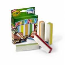 Мел с цветным стержнем для асфальта Color Core, 5 цветов Crayola