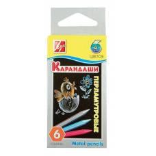 Восковые шестигранные карандаши, 6 цветов Луч