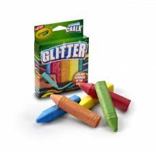 Мел с блестками для асфальта Glitter, 5 цветов Crayola