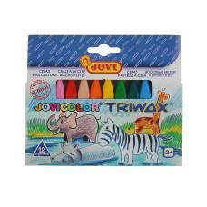 Восковые мелки Triwax, 12 цветов Jovi