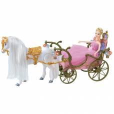 Карета с лошадью и куклой (движение, звук, свет) Girl's Club