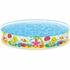 Каркасный бассейн Beach Days Snapset Pool - Розовые звезды и пальмы Intex