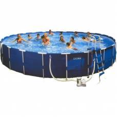 Бассейн на металлических опорах Metal Frame Pool Intex