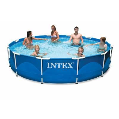 Бассейн на опорах Metal Frame Pool, 366 х 76 см Intex