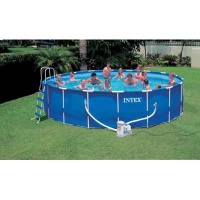 Бассейн Metal Frame Pool на опорах, 549 х 122 см  Intex