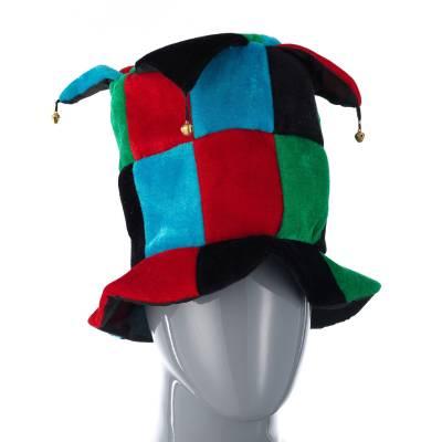 Шутовская шляпа с бубенцами, черно-красно-зеленая Snowmen