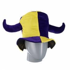 Шутовская шляпа с двумя рогами, желто-фиолетовая Snowmen