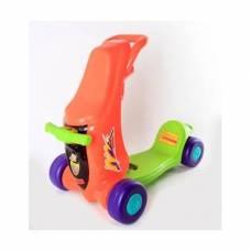 Каталка-самокат 2 в 1, красно-зеленая Shenzhen Toys
