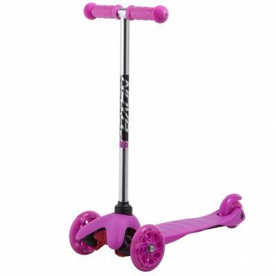 Кикборд Disco-kids Start (светятся колеса), нежно-розовый Novatrack