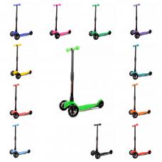 Самокат-кикборд с регулируемой складной ручкой (светятся колеса) Гермес