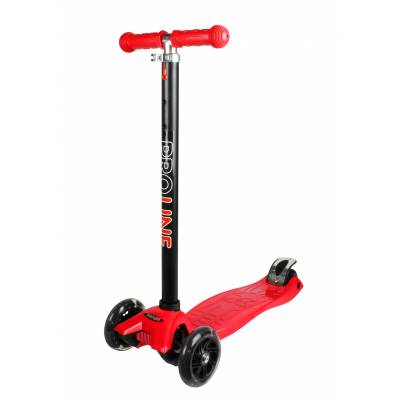 Самокат-кикборд (светятся колеса), красно-черный Pro Line