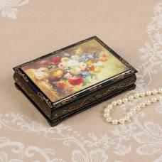 Шкатулка «Букет цветов», 10×14 см, лаковая миниатюра Sima-Land