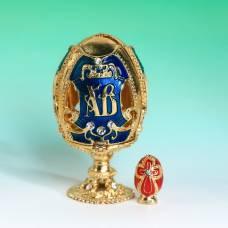 Яйцо-шкатулка «ХВ» (яйцо), 3,6 х 6,5 см Sima-Land