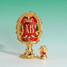 Яйцо-шкатулка «ХВ» (ангел), 3,6 х 6,5 см Sima-Land