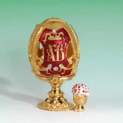 Яйцо-шкатулка «ХВ» (кулич), 3,6 х 6,5 см Sima-Land