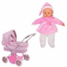 Игровой набор Bambolina Boutique - Классическая коляска с куклой Dimian