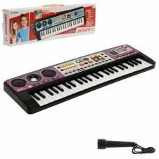 Синтезатор «Музыкальный взрыв», 49 клавиш, c USB, работает от батареек Забияка