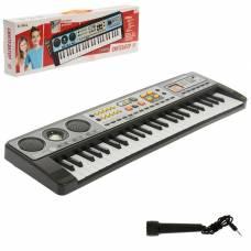 Синтезатор «Музыкальный взрыв», 49 клавиш, работает от батареек Забияка