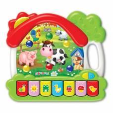 Музыкальная игрушка «Ферма», 2 режима: песенки, пианино и звуковые эффекты Азбукварик