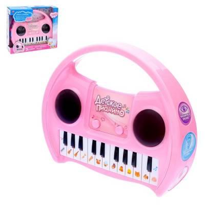 Развивающая игрушка «Детское пианино», звуковые эффекты, голоса животных, 3D-свет Sima-Land