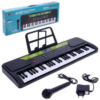 Синтезатор Song с микрофоном и дисплеем, 54 клавиши