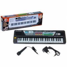 Синтезатор «Маленький музыкант» с микрофоном, 49 клавиш, цвет чёрный Sima-Land