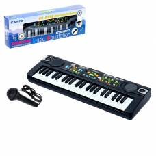 Синтезатор «Музыкант-2» с FM-радио, микрофоном, 44 клавиши, работает от сети и от батареек Sima-Land