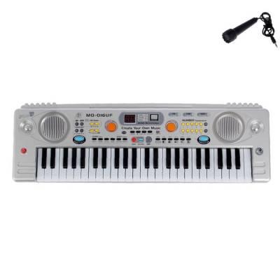 Синтезатор c радио и USB, 49 клавиш, работает от сети, в пакете Фа соль