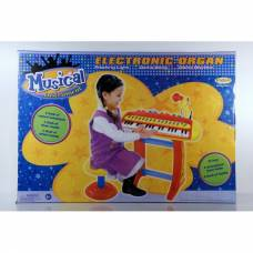 Детский электроорган на подставке с функцией записи (свет, звук)