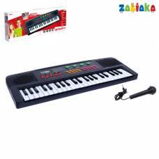 Синтезатор «Музыкант» с микрофоном, 37 клавиш Забияка