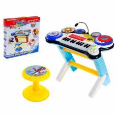 Синтезатор «Музыкальный микс» с микрофоном и стульчиком, звуковые эффекты, работает от батареек Sima-Land