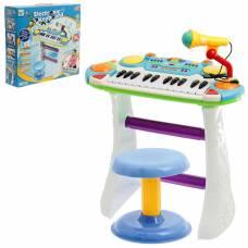 Напольный синтезатор «Лучший музыкант», со стульчиком и микрофоном Sima-Land