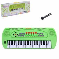 Синтезатор «Музыкант» с микрофоном, цвет зелёный, 32 клавиши Sima-Land