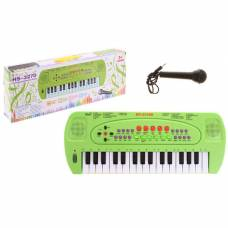 Синтезатор «Музыкант» с микрофоном, цвет зелёный Sima-Land