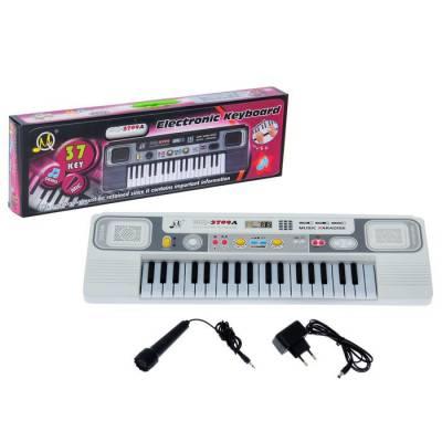 Синтезатор «Маленький музыкант» с микрофоном, 37 клавиш, цвет белый Sima-Land