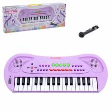 Синтезатор «Музыкант» с микрофоном, цвет фиолетовый, 32 клавиши, работает от батареек Sima-Land