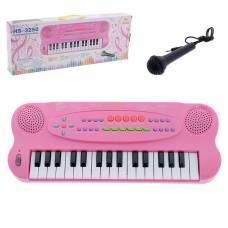Синтезатор «Музыкант» с микрофоном, цвет розовый, 32 клавиши, работает от батареек Sima-Land