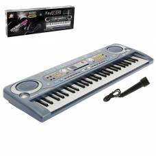 Синтезатор «Музыкальный взрыв», 54 клавиши с цифровым дисплеем, работает от сети и от батареек, адаптер в комплекте Sima-Land