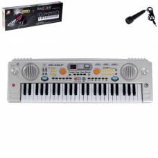 Синтезатор «Музыкальный взрыв» c радио и USB, 49 клавиш, работает от сети и от батареек, блок питания в комплектацию НЕ ВХОДИТ Sima-Land