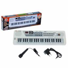 Синтезатор «Музыкант» с микрофоном, 49 клавиш, работает от сети и от батареек Sima-Land