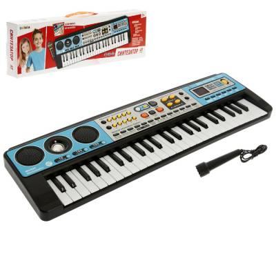 Синтезатор «Музыкальный взрыв», 49 клавиш с радио, работает от батареек Забияка