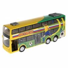 Автобус металлический, инерционный, световые и звуковые эффекты, двери открываются Технопарк