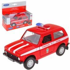 Модель машины LADA 4x4 - Пожарная, масштаб 1:34-39 Welly