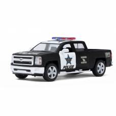 Машина металлическая Chevrolet Silverado (Police), масштаб 1:46, открываются двери, инерция Kinsmart