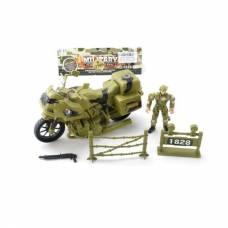 Игровой набор Military - Солдат с мотоциклом Shantou