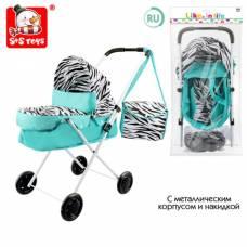 Коляска для кукол «Зебра» с сумкой, универсальная, металлический каркас S+S Toys