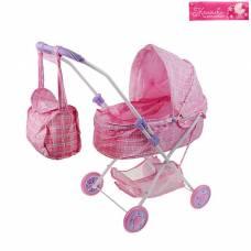 Коляска для кукол зимняя, с сумкой, с корзиной, металлический каркас Sima-Land
